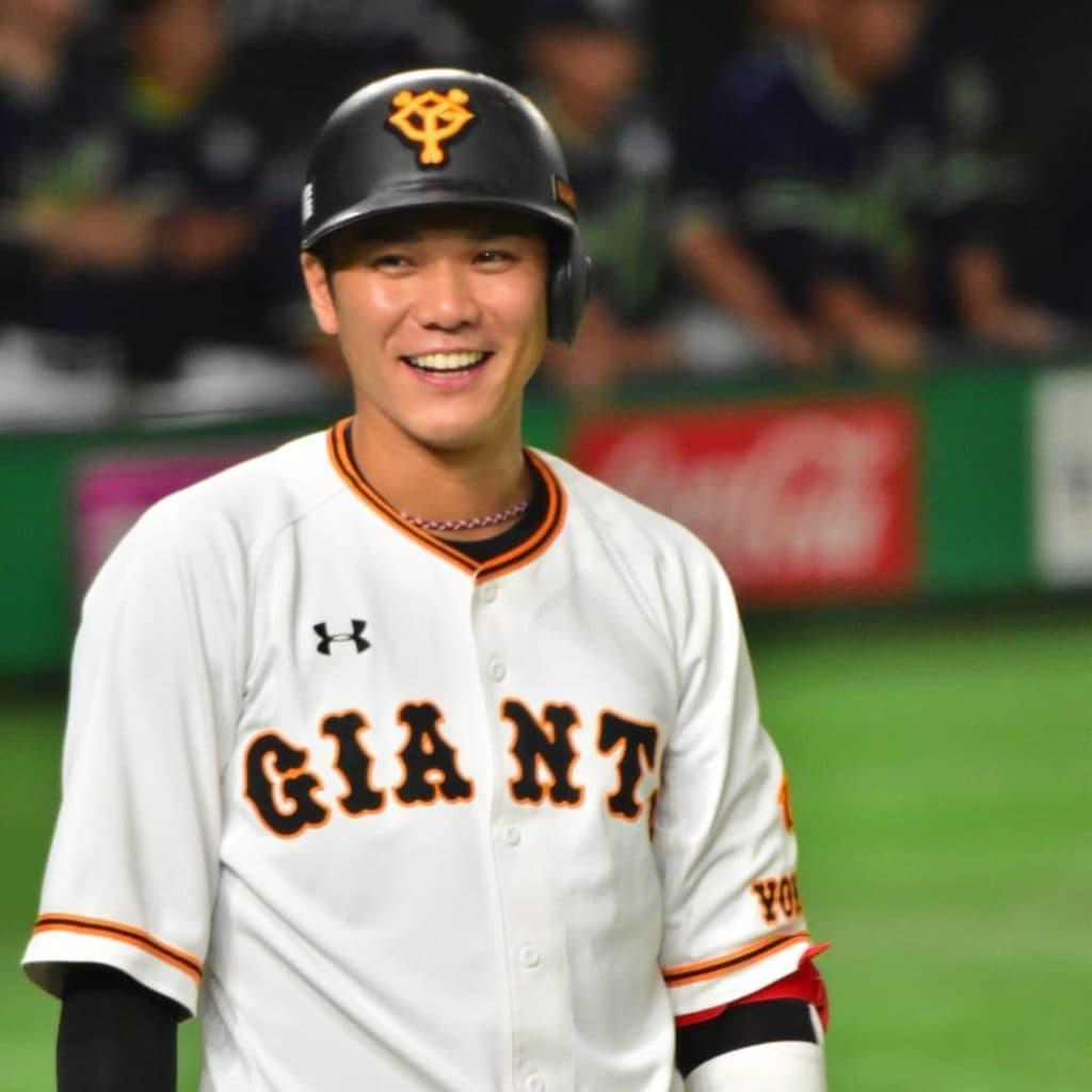 笑顔の坂本勇人選手