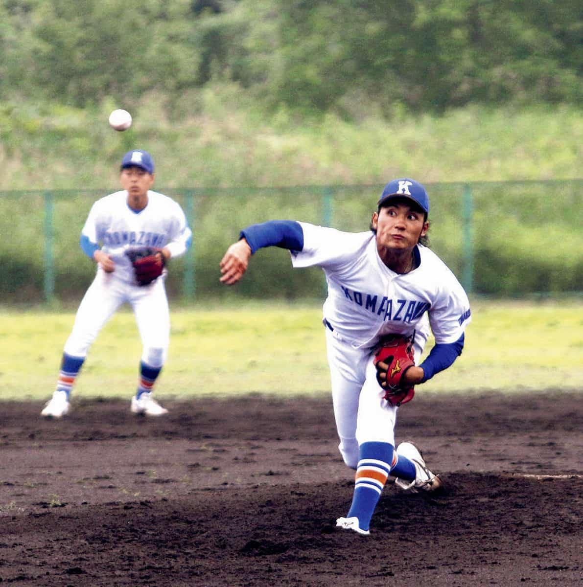 ドラフト候補の伊藤大海投手。